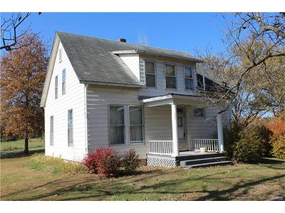 Hannibal MO Single Family Home For Sale: $124,250