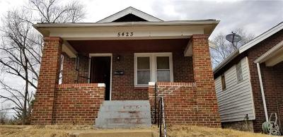 St Louis City County Single Family Home For Sale: 5423 Genevieve Avenue