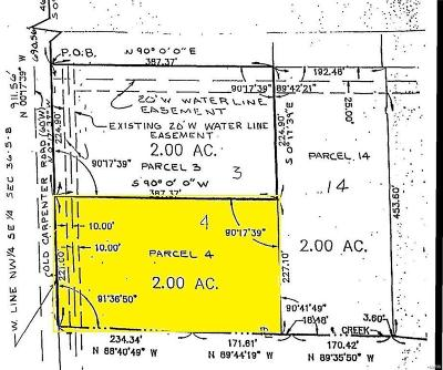Madison County Residential Lots & Land For Sale: Lot 4 Fields Creek