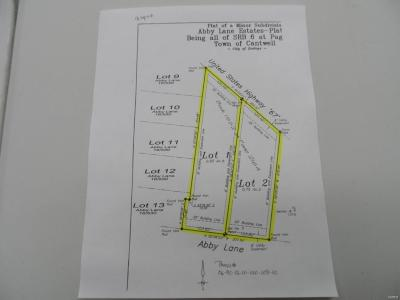 Residential Lots & Land For Sale: Lots 1 & 2 Abby Lane