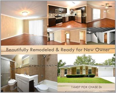 Single Family Home For Sale: 14407 Fox Chase Drive