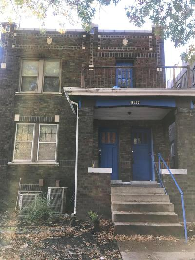 St Louis City County Multi Family Home For Sale: 5417 Tennessee Avenue