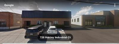 Franklin County, Gasconade County, Jefferson County, Lincoln County, Montgomery County, Pike County, St Charles County, St Louis City County, St Louis County, Warren County Commercial Lease For Lease: 726 Hanley Industrial Ct