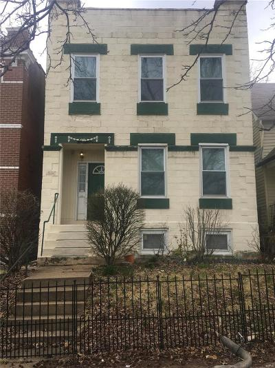 St Louis City County Single Family Home For Sale: 3231 Mount Pleasant