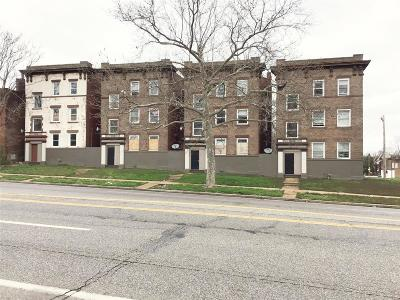 St Louis City County Multi Family Home For Sale: 5437 Page Boulevard