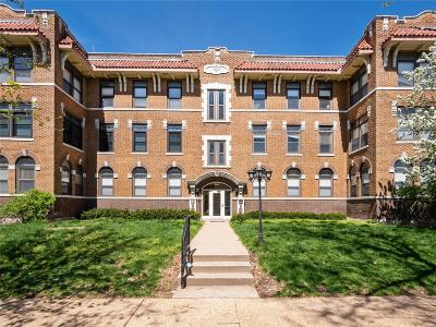 St Louis City County Condo/Townhouse Active Under Contract: 5635 Waterman #12