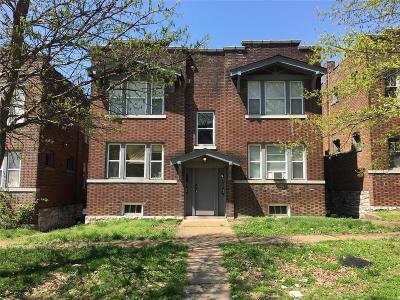 St Louis City County Multi Family Home For Sale: 3541 Oregon Avenue