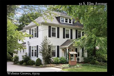Webster Groves, Kirkwood Single Family Home For Sale: 32 South Elm Avenue
