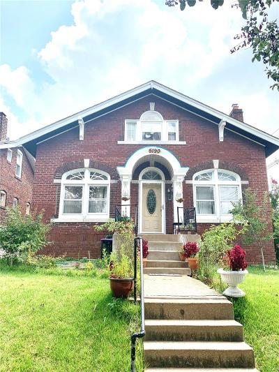 St Louis Single Family Home For Sale: 5190 Goethe Avenue