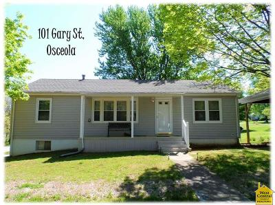 Osceola Single Family Home For Sale: 101 Gary St