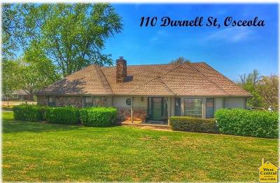 Osceola Single Family Home For Sale: 110 Durnell St