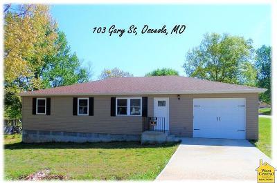 Osceola Single Family Home For Sale: 103 Gary St