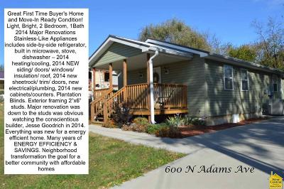 Johnson County Single Family Home Sale Pending/Backups: 600 N Adams Ave