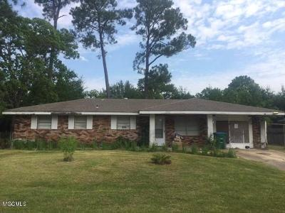 Gulfport Single Family Home For Sale: 2535 W David Dr