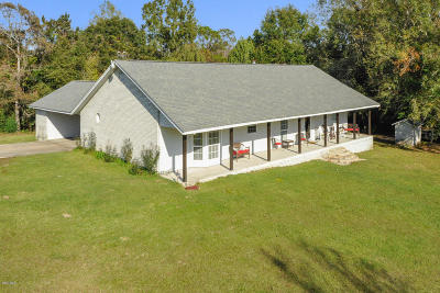 Gulfport Single Family Home For Sale: 13628 Wolf River Rd