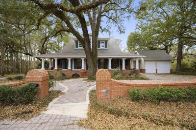 Ocean Springs Single Family Home For Sale: 8101 Fountainbleau Rd