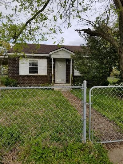 Biloxi MS Single Family Home For Sale: $45,000