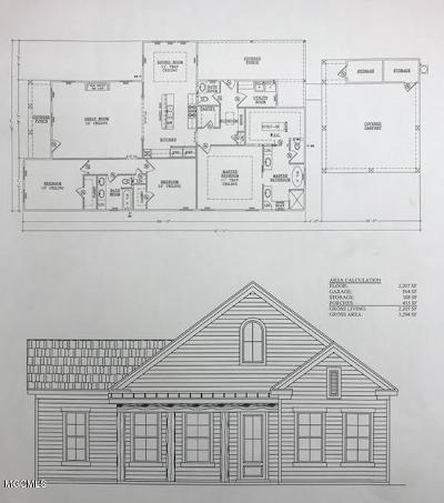 Gulfport Single Family Home For Sale: Lot 53 Parc Merlot