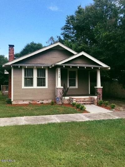 Gulfport Single Family Home For Sale: 1108 37th Ave