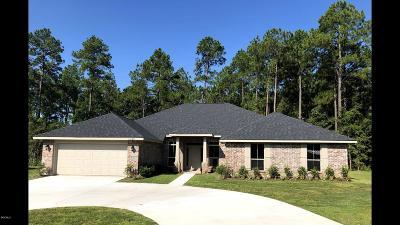 Biloxi Single Family Home For Sale: Lot 1 Hudson Krohn Rd