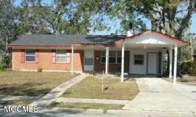 Gulfport MS Single Family Home For Sale: $117,500