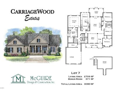 Gulfport Single Family Home For Sale: Carriagewood Dr