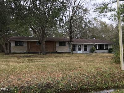 Ocean Springs Single Family Home For Sale: 9824 Theriot Ave