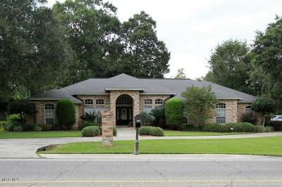 Diamondhead Single Family Home For Sale: 6641 Golf Club Dr