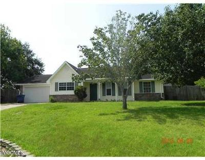 Ocean Springs Single Family Home For Sale: 12505 W Canterbury Dr