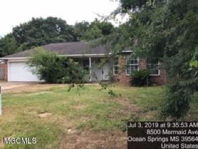 Ocean Springs Single Family Home For Sale: 8500 Mermaid Ave