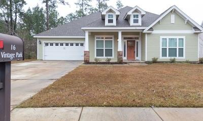 Hattiesburg Single Family Home For Sale: 16 Vintage Park