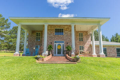Purvis Single Family Home For Sale: 1320 Purvis Baxterville Rd.