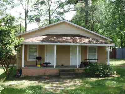 Carthage MS Single Family Home For Sale: $45,000