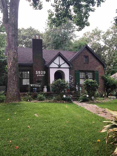 Jackson Single Family Home For Sale: 3929 Greaves St