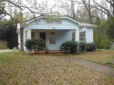 Carthage MS Single Family Home For Sale: $65,000