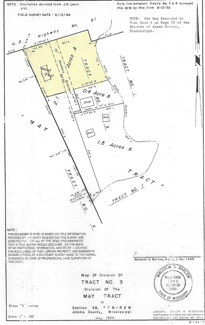 Natchez Commercial For Sale: 552 Highway 61 N