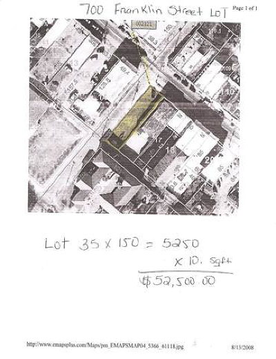 Natchez Commercial Lots & Land For Sale: 700 Franklin Street
