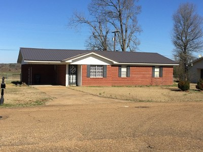 Coffeeville MS Single Family Home For Sale: $57,500