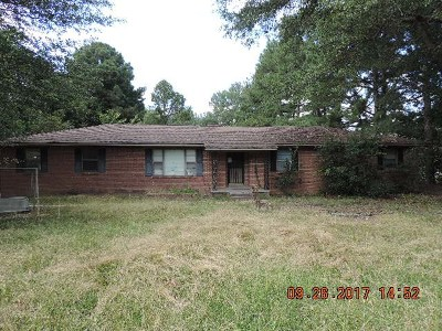 Bruce, Calhoun City, Derma, Abbeville, Banner, Batesville, Como, Taylor, Courtland, Crenshaw, Pope, Sardis, Charleston, Coffeeville, Oakland Single Family Home For Sale: 3443 Curtis Road