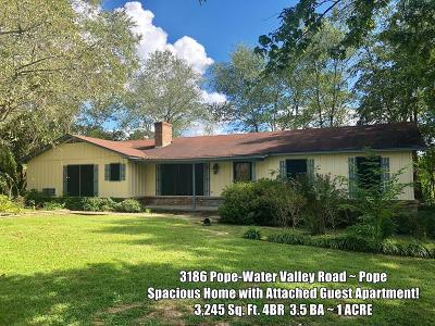 Pope Single Family Home For Sale: 3186 Pope Water Valley Road
