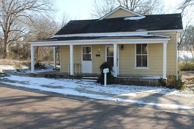 Water Valley Single Family Home For Sale: 206 Calhoun Street