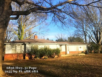 Pope Single Family Home For Sale: 6836 Hwy 51