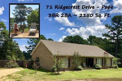 Pope Single Family Home For Sale: 71 Ridgecrest Drive