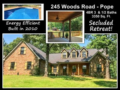 Pope Single Family Home For Sale: 245 Woods Road