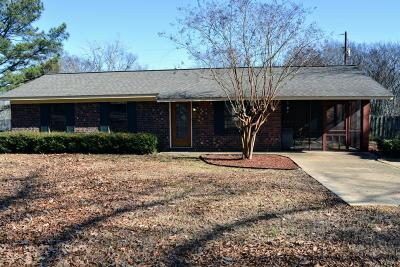 Tupelo MS Single Family Home For Sale: $119,900