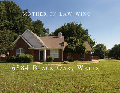 Walls Single Family Home For Sale: 6884 Black Oak Drive