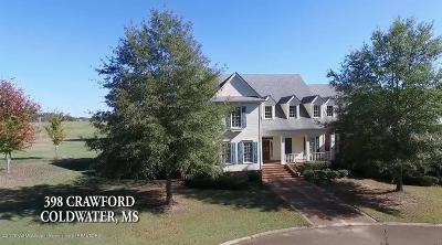 Tate County Single Family Home For Sale: 398-400 Crawford Road
