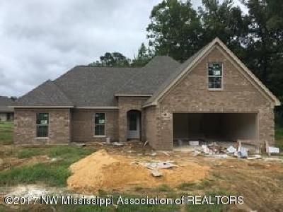 Tate County Single Family Home For Sale: 105 Creekside Drive