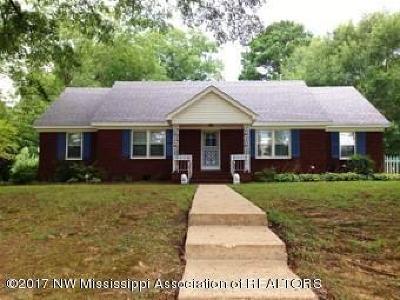 Byhalia Single Family Home For Sale: 148 Highway 309 S