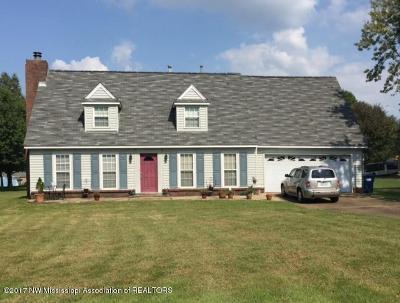 Horn Lake Single Family Home For Sale: 5470 Ridgetop Road